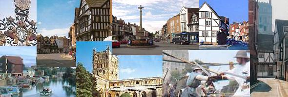 Historic town of Tewkesbury